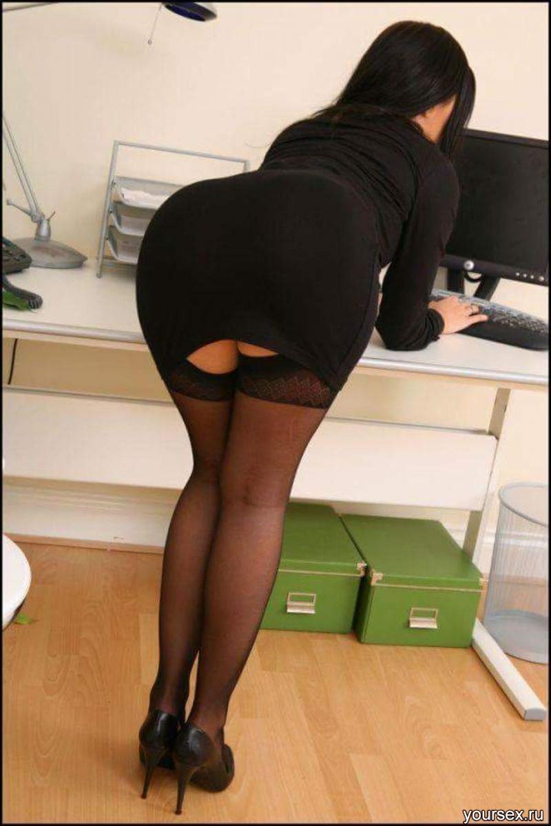Секретарша с пышной попой 8 фотография